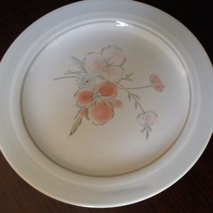 Vintage Galleria Stoneware Bread Plate - Pink Flor